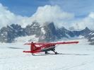 Gletscherlandung auf dem Ruth Gletscher